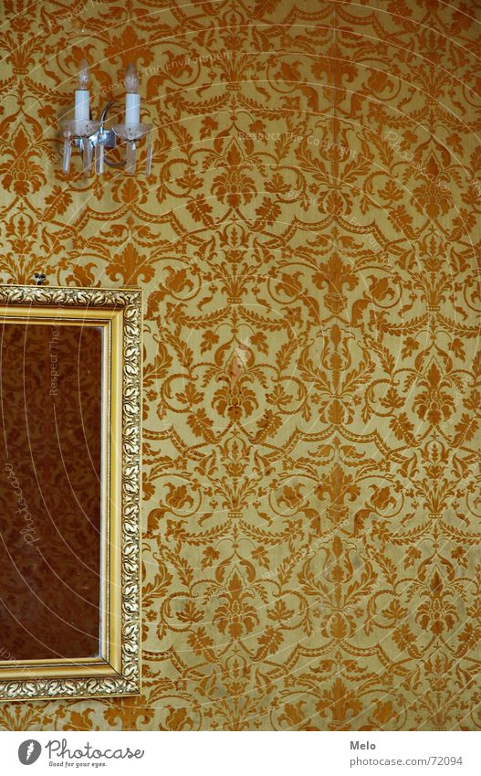Yellow Wall (building) Glass Gold Mirror Wallpaper Frame Ornament