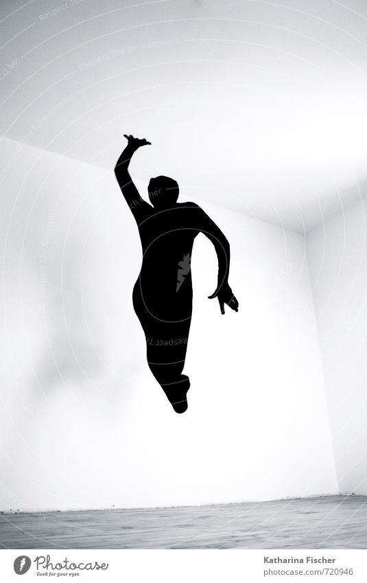 #720946 Body 1 Human being Art Dance Dancer Movement Jump Athletic Free Happiness Happy Crazy Wild Gray Black White Joy Joie de vivre (Vitality) Optimism Power