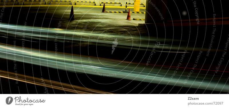 downward II Light Stripe Downward Under Long exposure Underground garage Transport Driving Hut Arch Circle Movement Dynamics Street Curve