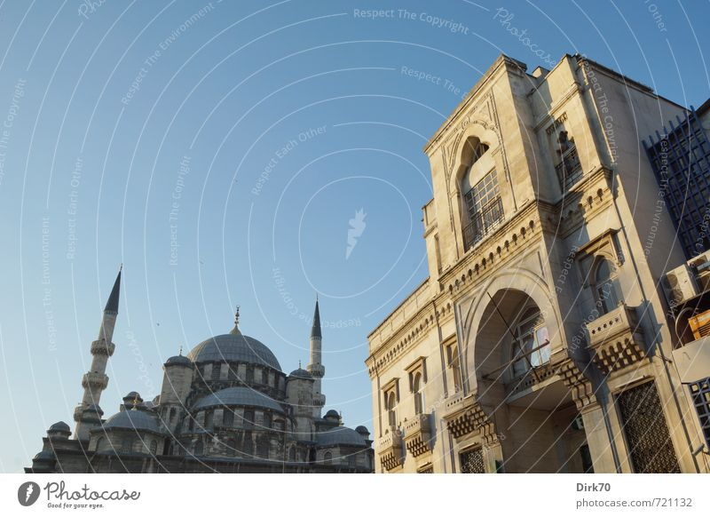 Architecture oriental Vacation & Travel Tourism Far-off places City trip Near and Middle East Cloudless sky Sunlight Beautiful weather Istanbul Turkey Town