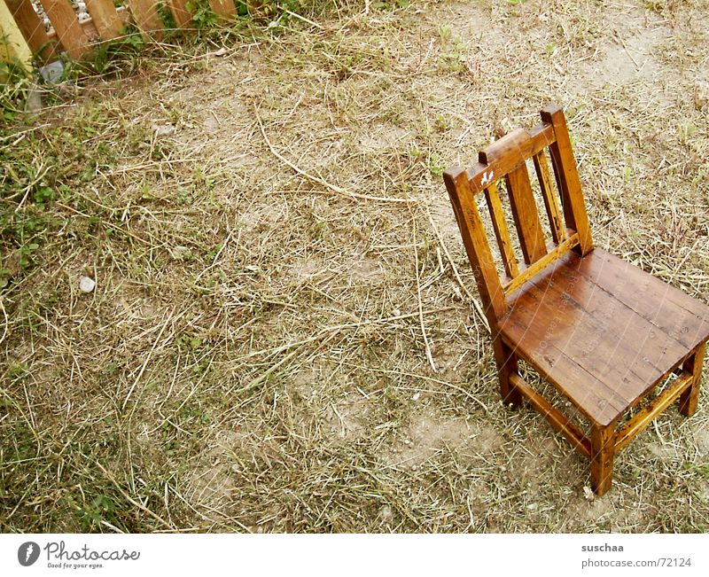 Relaxation Garden Sit Lawn Stand Chair Floor covering Fence Ancient Stay Untidy Groomed Wooden chair High chair