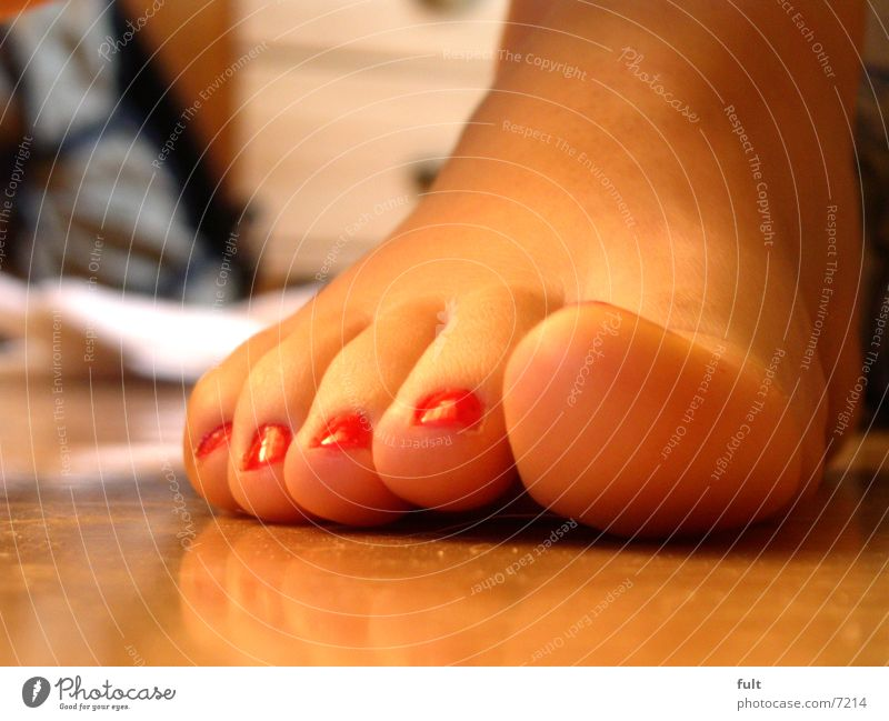 foot Red Nail polish Toes Woman Wood Consecutively Feet Legs Human being Skin Stairs Sit Indicate Shadow laid Ankle Hoe Barefoot