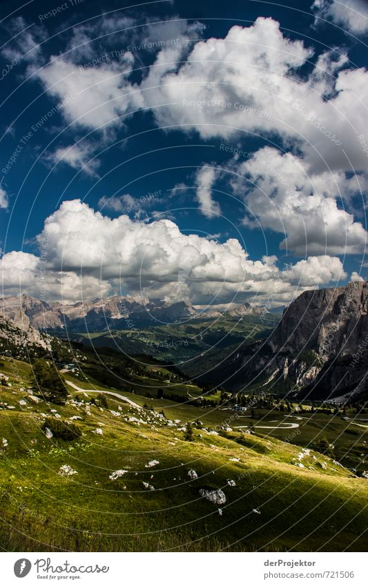 Panorama Dolomites with Clouds and Sun Leisure and hobbies Vacation & Travel Tourism Trip Adventure Far-off places Freedom Mountain Hiking Environment Nature