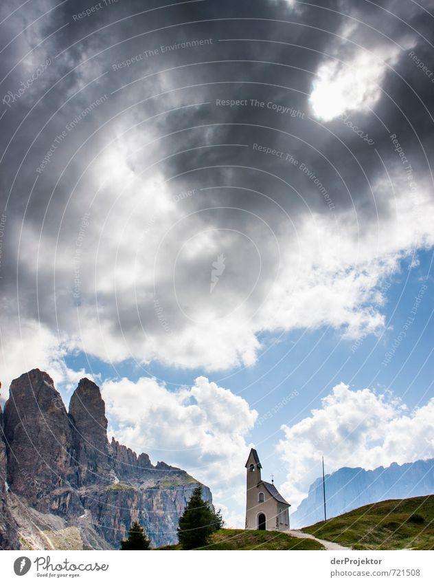 Nature Vacation & Travel Summer Landscape Clouds Environment Mountain Emotions Rock Moody Contentment Tourism Trip Church Elements Joie de vivre (Vitality)