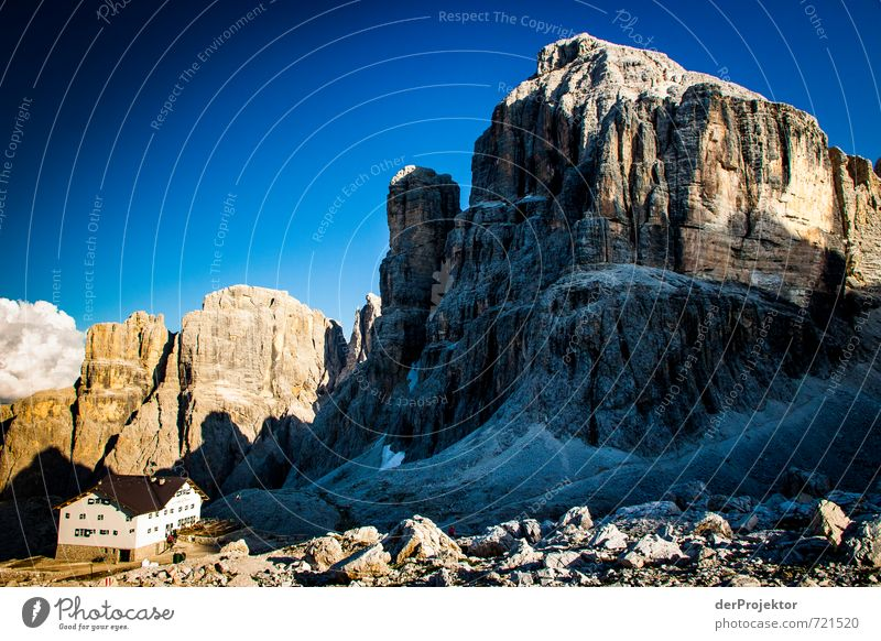 Nature Summer Landscape House (Residential Structure) Mountain Environment Emotions Happy Moody Rock Tourism Hiking Climate Italy Beautiful weather Elements