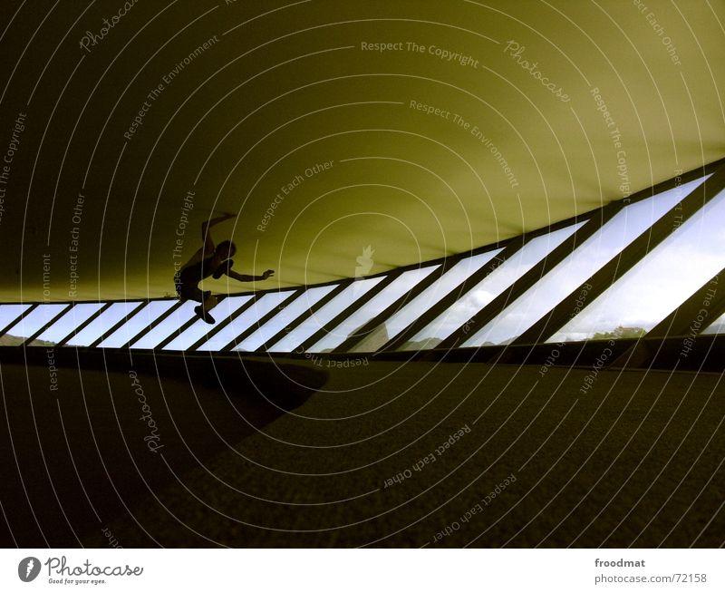 jump the niemeyer Window Swing Jump Rio de Janeiro Brazil Line Glass Crazy niterói Architecture Glazed facade Round construction Spirited Modern