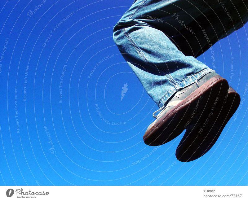Blue Jump Freedom Feet Footwear Flying Jeans Chucks Sneakers Progress