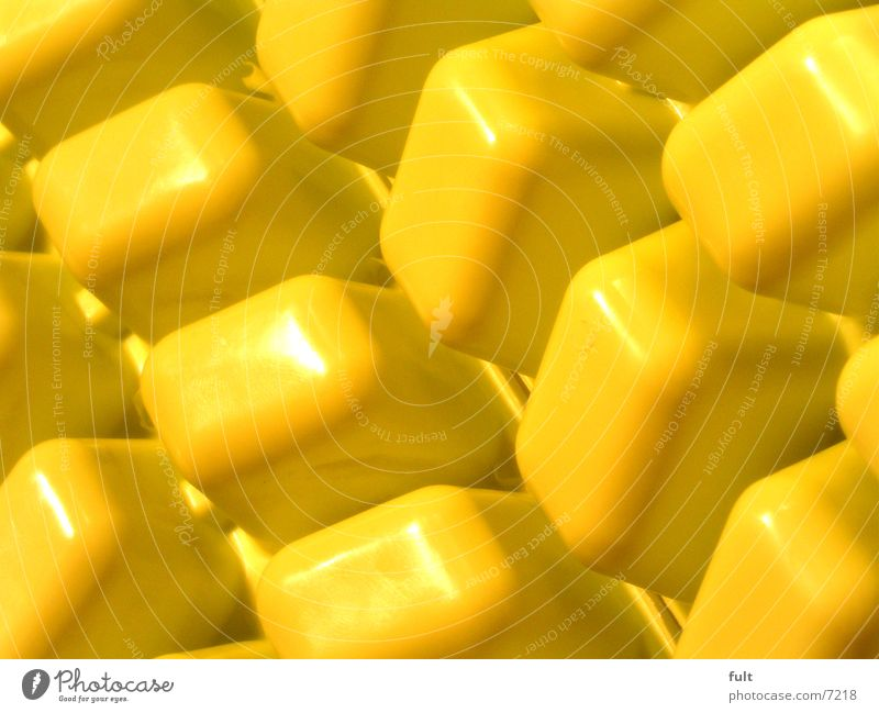 Yellow Glittering Modern Kitchen Round Things Statue Plastic Cube Ice cube Cuboid Side by side