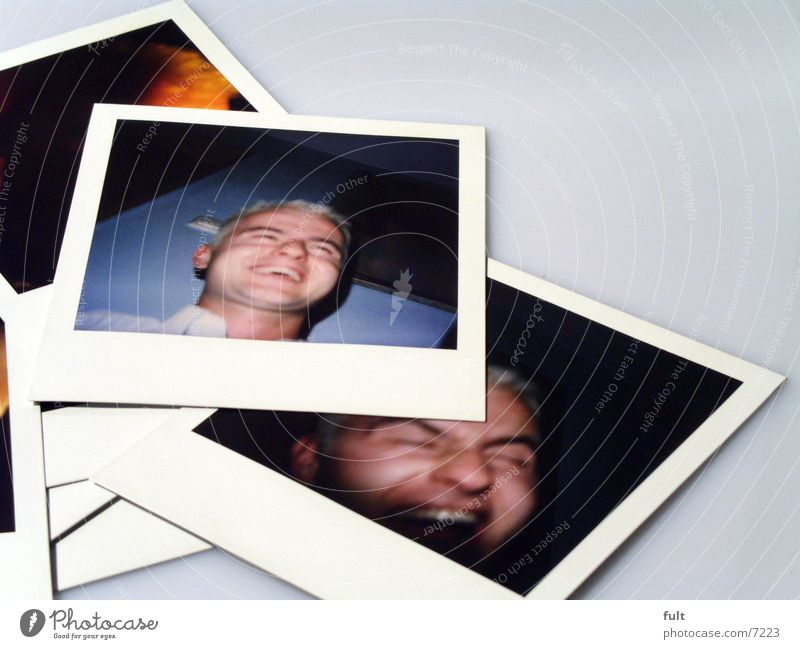 Man Face Style Laughter Head Polaroid Photography Lie Image Things Grinning Macro (Extreme close-up) Consecutively