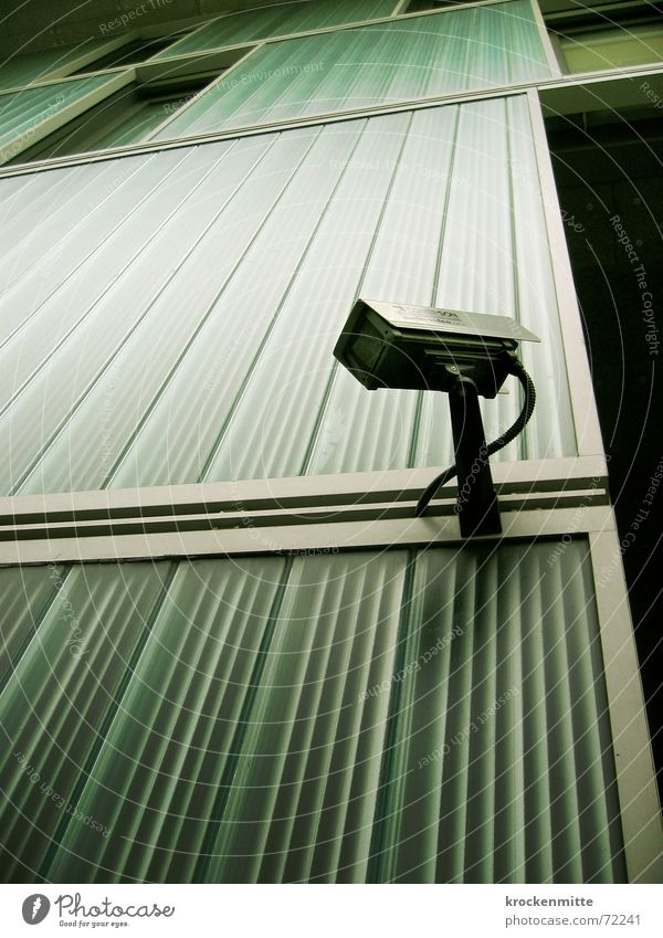 Life Wall (building) Wall (barrier) Line Safety Future Cable Camera Stripe Thief Video Filming Monitoring Police state Surveillance camera 1984