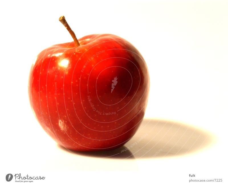 apple Red Fresh Healthy Nutrition Vitamin Crunchy Round Delicious Picked Reflection Apple Nature Macro (Extreme close-up) Vegetarian diet Food To enjoy Lie