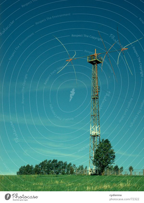 Sky Tree Summer Meadow Level Television Steel Society Electricity pylon Appliance
