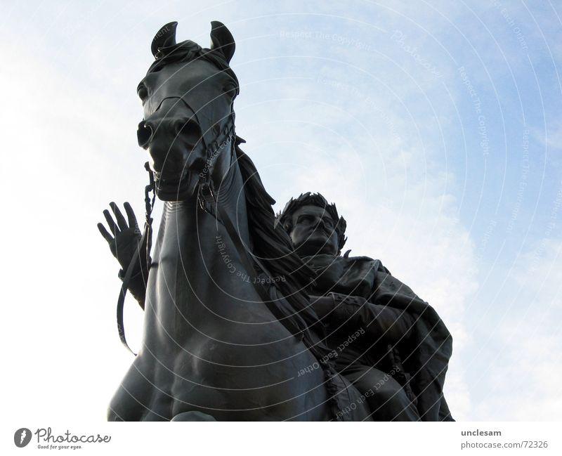Carl August Culture Landmark Monument Horse Loyal Statue Weimar Government Old times duke King ruler grand duke Germany Colour photo Exterior shot