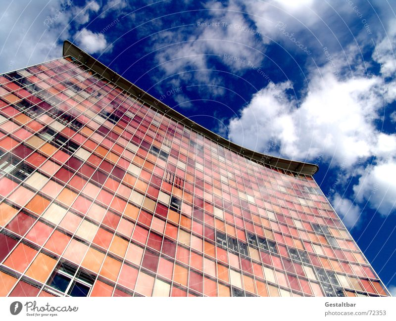 Sky Window Berlin Glass Facade Modern High-rise Television Kreuzberg Venetian blinds Formulated