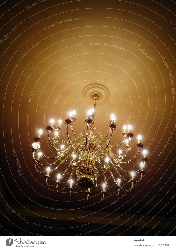 Ceiling height 3,5m Lamp Room Night Glittering Old building Brass Light Gala chandelier Blanket Evening Gold shine ceiling lamp Feasts & Celebrations Society