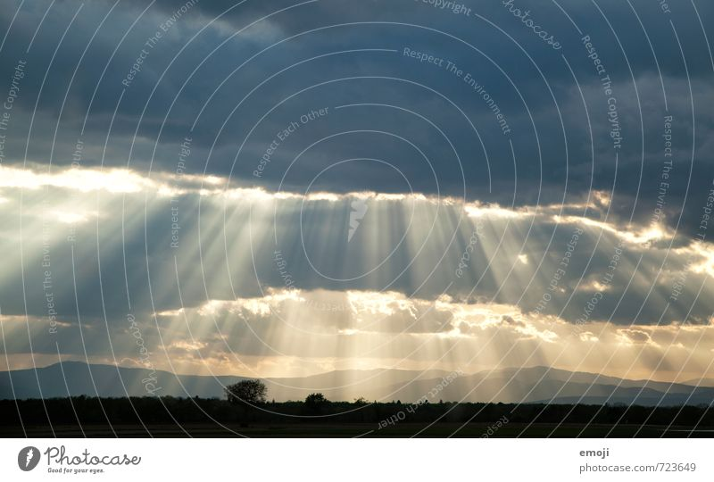 Sky Nature Landscape Clouds Environment Natural Exceptional Weather Climate Beam of light Brilliant Radial