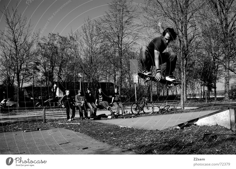 Sports Lifestyle Above Jump Park Air Action Empty Munich Skateboarding Audience Gap Trick Funsport Music Parking level