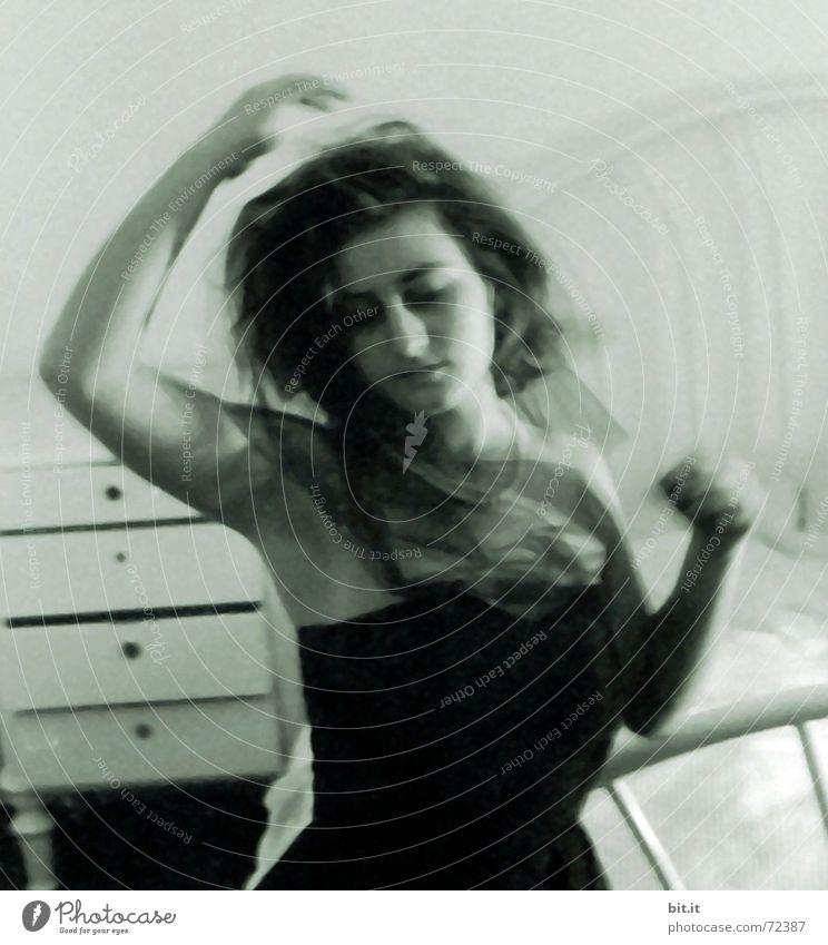 Woman Joy Face Calm Feminine Movement Dream Dance Room Adults Arm Elegant Bed Romance Joie de vivre (Vitality) Passion