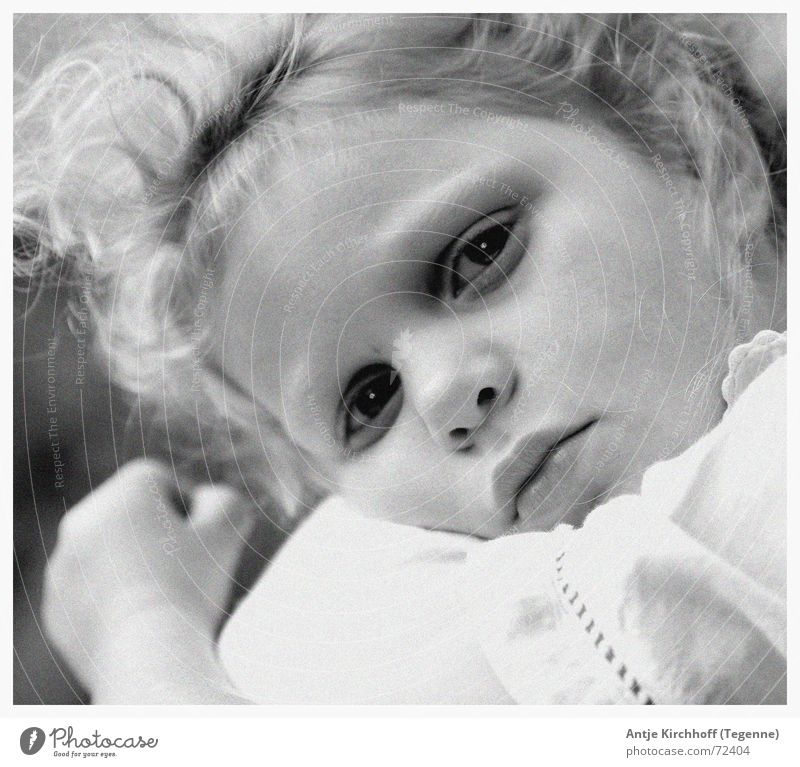 Child Girl Eyes Sadness Small Nose Grief Sweet Open Fatigue Cute Friendliness Curl Fairy Graceful Dreamily