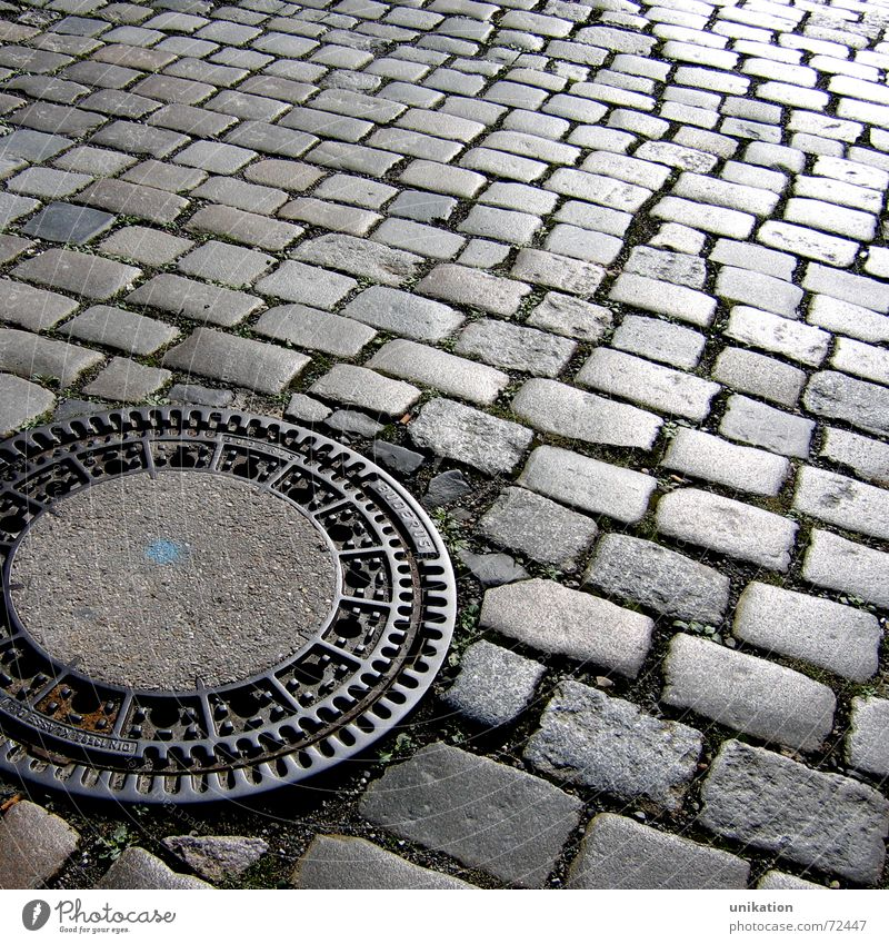 Street Stone Lanes & trails Cobblestones Pavement Flow Gully Drainage Paving stone Mosaic