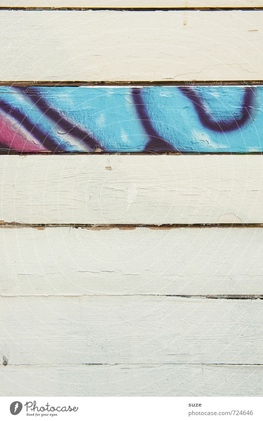 Blue White Colour Wall (building) Graffiti Wall (barrier) Wood Line Art Background picture Facade Authentic Simple Creativity Stripe Cool (slang)