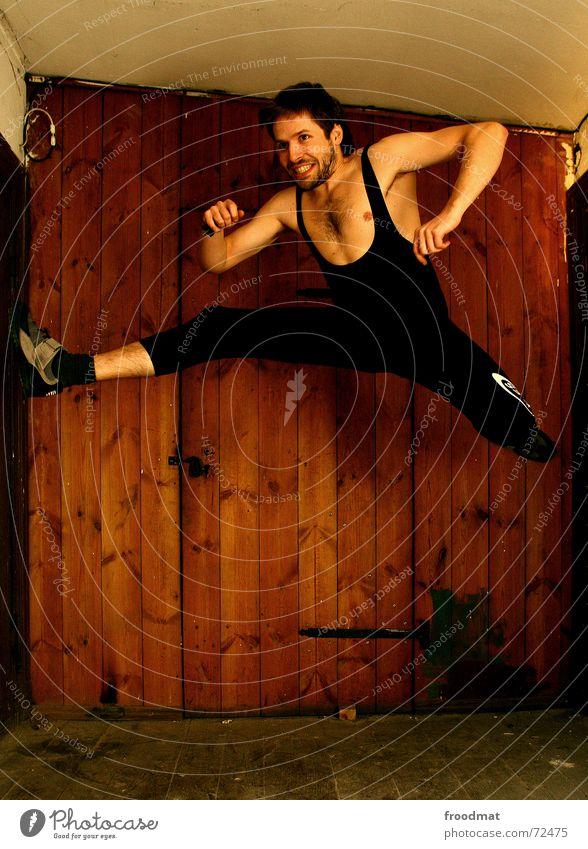 Sports Jump Wood Gymnastics Healthy Door Action Floor covering Dynamics Grinning Athletic Sneakers Splits