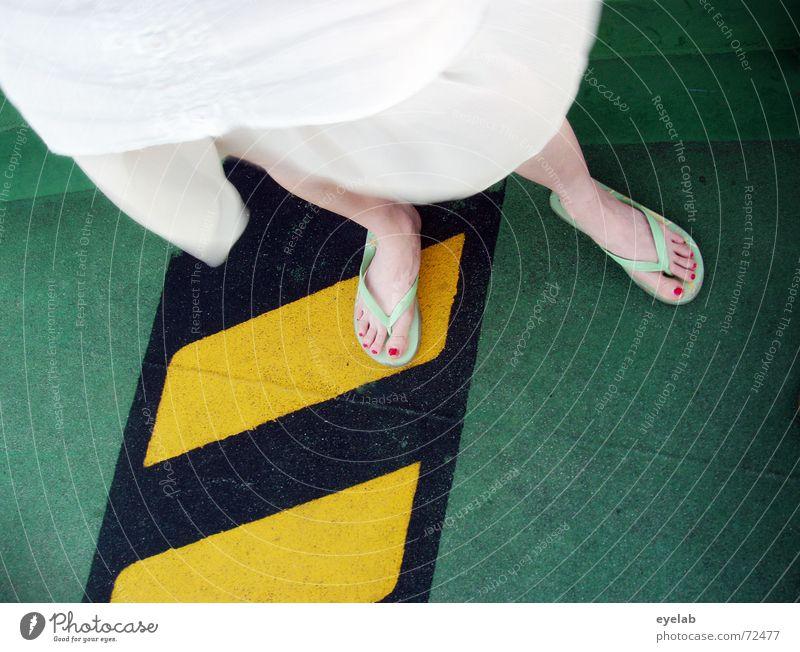 White Green Black Yellow Colour Feet Footwear Legs Watercraft Dirty Clothing Dangerous Floor covering Threat Dress