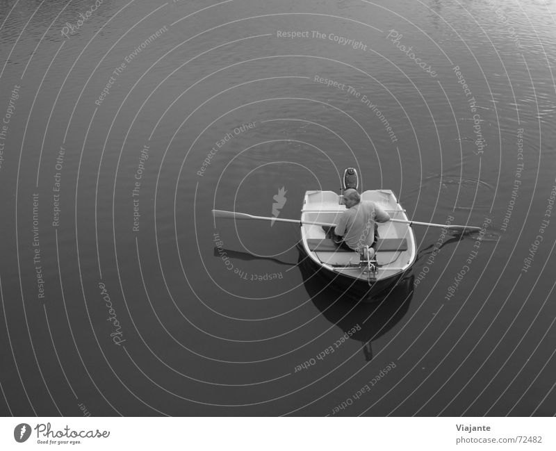 Water Loneliness Calm Adults Relaxation Lake Watercraft Contentment Leisure and hobbies Individual Float in the water Pond Surface of water Leave Rowing Slowly