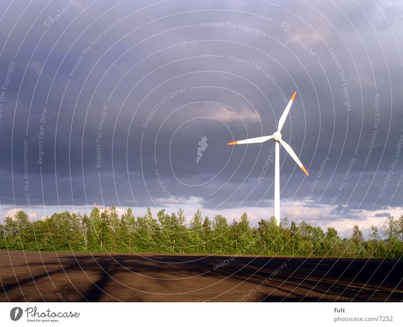 windmill Field Brown Green Renewable energy Electricity Design Logic Clouds Horizon Energy Industry Wind energy plant Sky Blue Technology okö Movement Nature