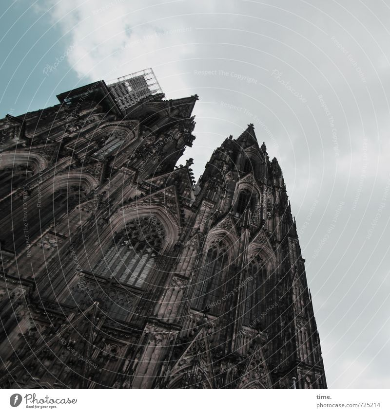 god chilla Construction site Cologne Church Dome Manmade structures Building Architecture Wall (barrier) Wall (building) Facade Tourist Attraction Landmark