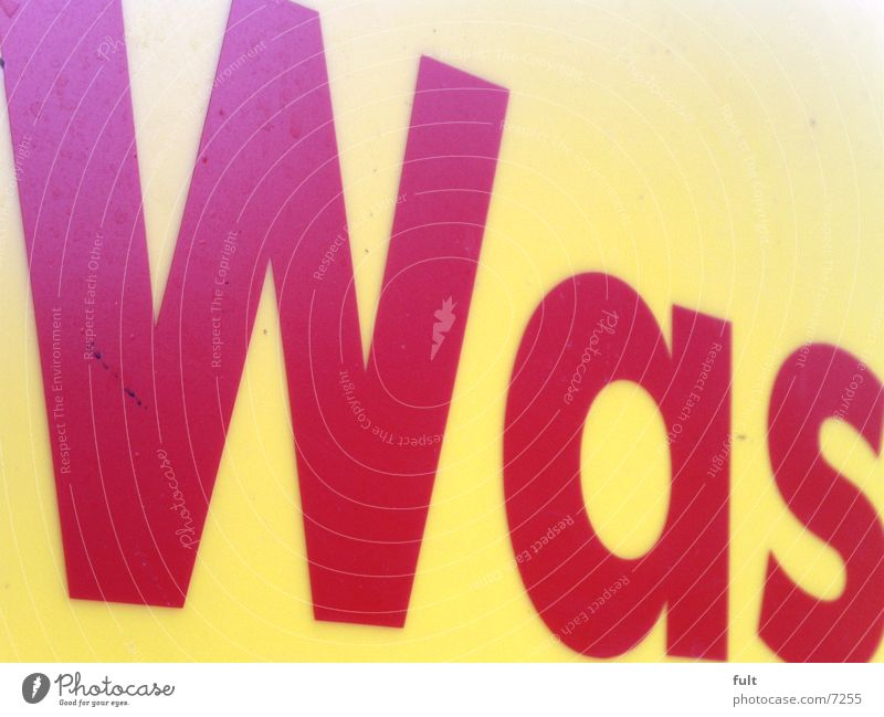Red Yellow Style Germany Characters Letters (alphabet) Typography What Word Ask Meaning Remark