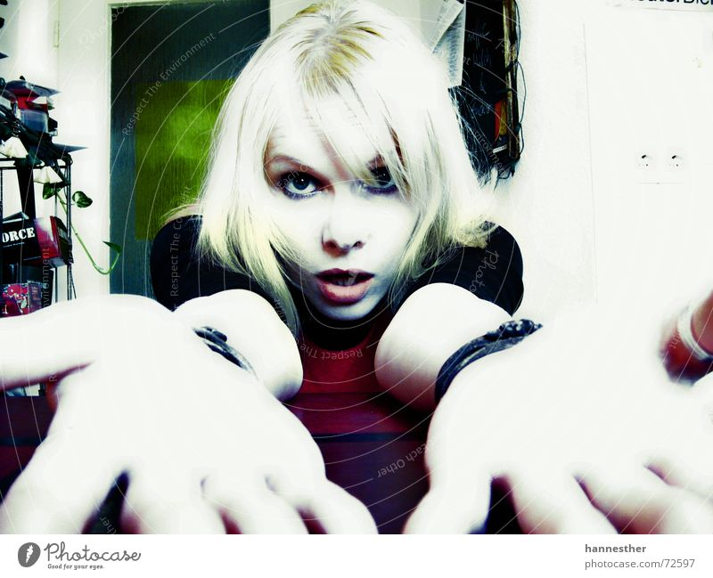 but why? Insulted Bracelet Kitchen Table Wall (building) Woman Portrait photograph Lips Feminine Crazy Blonde Light House (Residential Structure) Colour Eyes