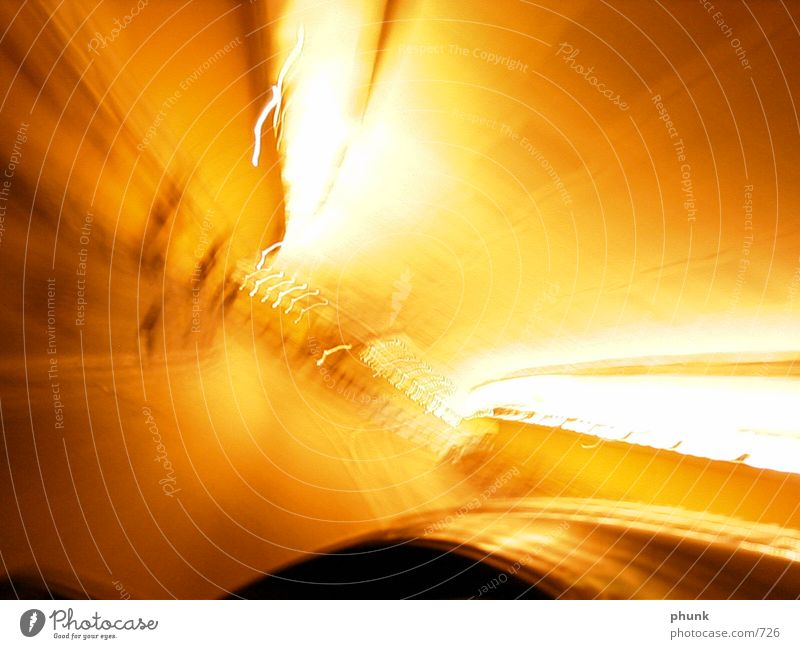 Yellow Speed Tunnel Photographic technology Shaky