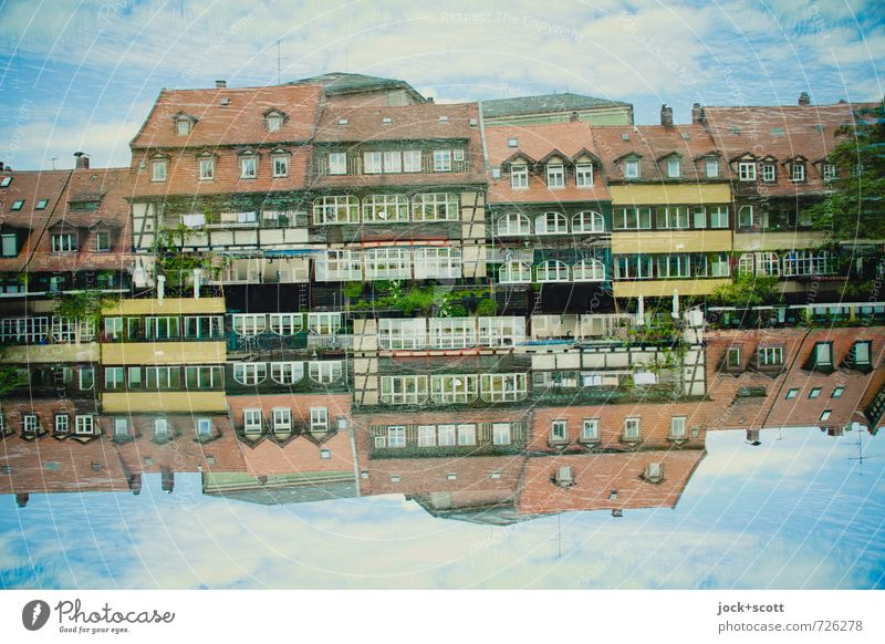aquatic life Sightseeing City trip World heritage Sky Spring Bamberg Old town House (Residential Structure) Half-timbered house Half-timbered facade Collection