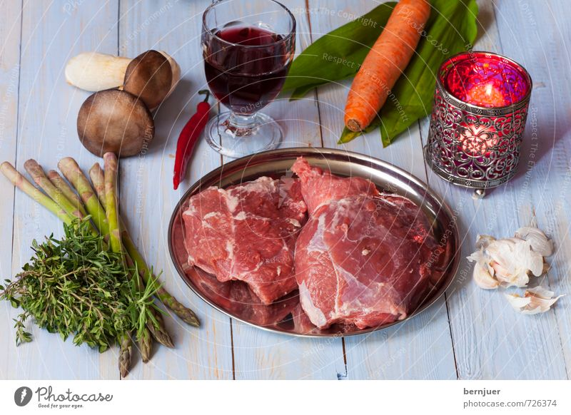 Blue Red Food Glass Cooking & Baking Candle Good Wine Vegetable Organic produce Plate Bowl Mushroom Meat Carrot Raw