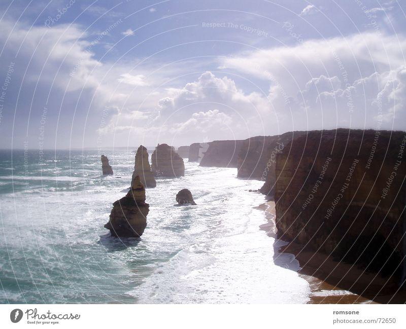 Nature Sky Ocean Moody Australia Victoria Rock formation Great Ocean Road