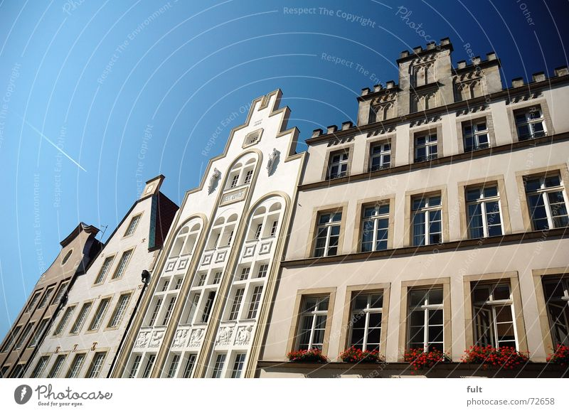facade3 House (Residential Structure) Window Facade Window box Sky Münster Blue Architecture