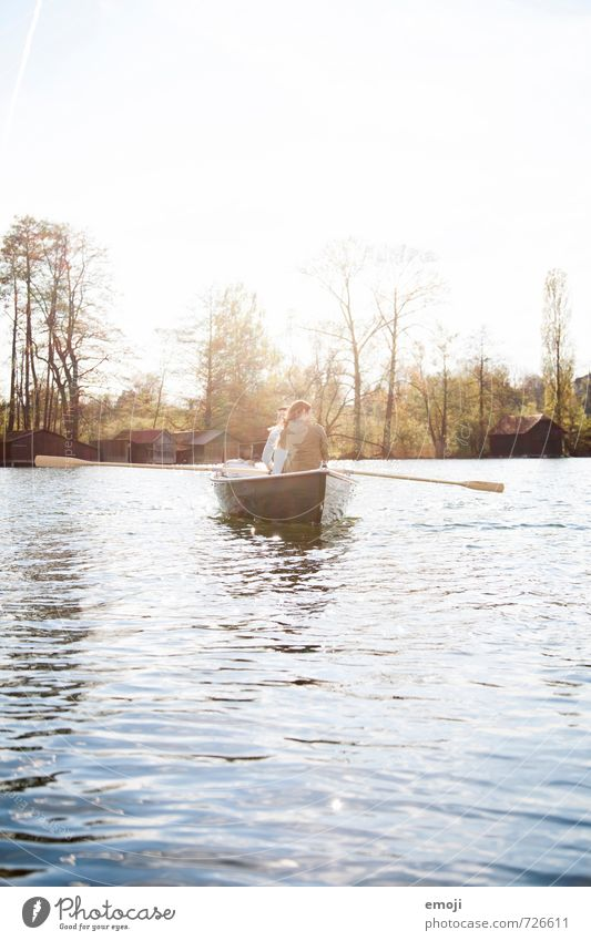 light 2 Human being Environment Nature Landscape Spring Beautiful weather Lake Natural Leisure and hobbies Rowboat Colour photo Exterior shot Day Light Sunlight
