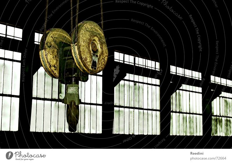 Old Window Industrial Photography Factory Discover Steel Workshop Machinery Ruin Shabby Weight Warehouse Hang Crane Carrying Lift