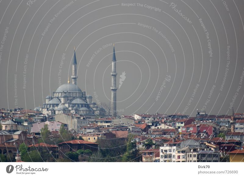 Dark clouds over Istanbul Tourism City trip Clouds Storm clouds Sunlight Bad weather Turkey Town Downtown Skyline House (Residential Structure) Mosque Minaret