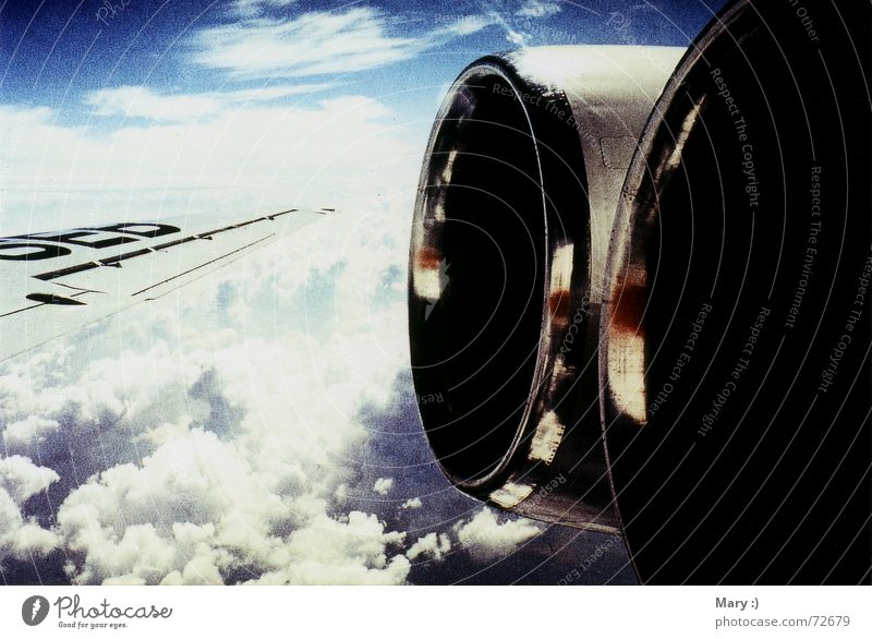 Sky Vacation & Travel Clouds Freedom Airplane Wing View from a window Window seat