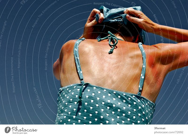 headscarf01 Headscarf Ocean Rügen Physics Vacation & Travel Carrier Hand Perspiration Summer Woman Baltic Sea Warmth Shadow Blue Knot Sky Freedom Wind Point