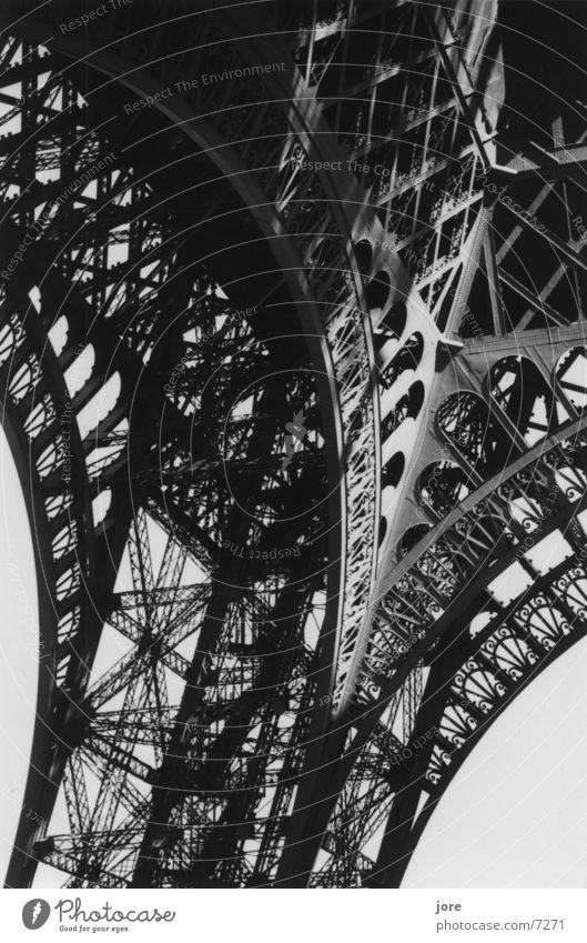 La tour Eiffel Tower Paris Steel Delicate Architecture Detail Black & white photo Elegant