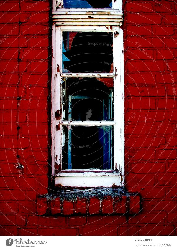 Old Red House (Residential Structure) Black Death Window Dark Wall (building) Gray Stone Wall (barrier) Building Sadness Room Flat (apartment) Glass