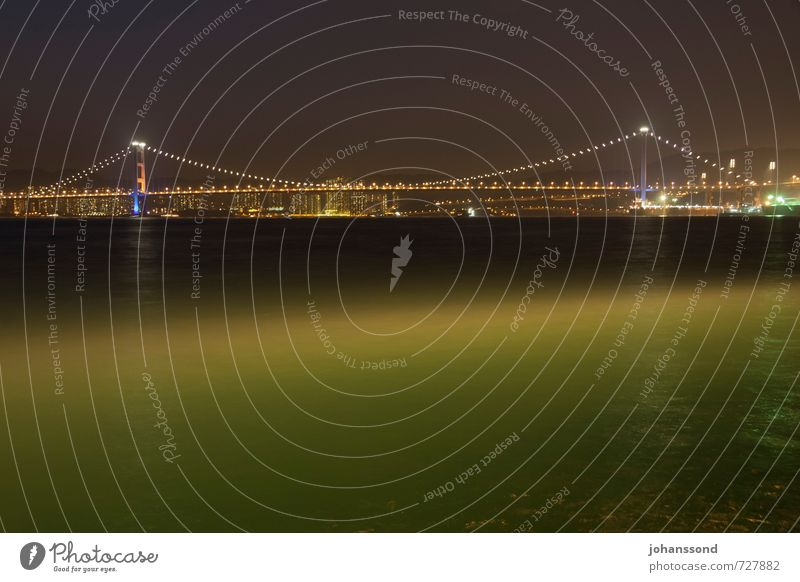 Vacation & Travel City Water Ocean Loneliness Calm Dark Sadness Coast Dream Illuminate Modern High-rise Threat Bridge Warm-heartedness
