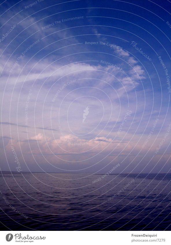 Adriatic afternoon sky Croatia Clouds Sunlight Ocean Sailing Pink Sky Contrast Blue light/dark sea Adriatic Sea