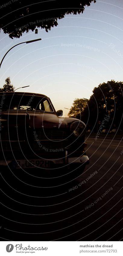 the red flash Means of transport Motor vehicle Vintage car Sunset Lantern Car Old old car Street Wedding Sky Volvo Pride