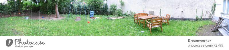 My backyard Backyard Swing Playground Wall (barrier) Green Panorama (View) Farm Garden Lawn Large Panorama (Format)