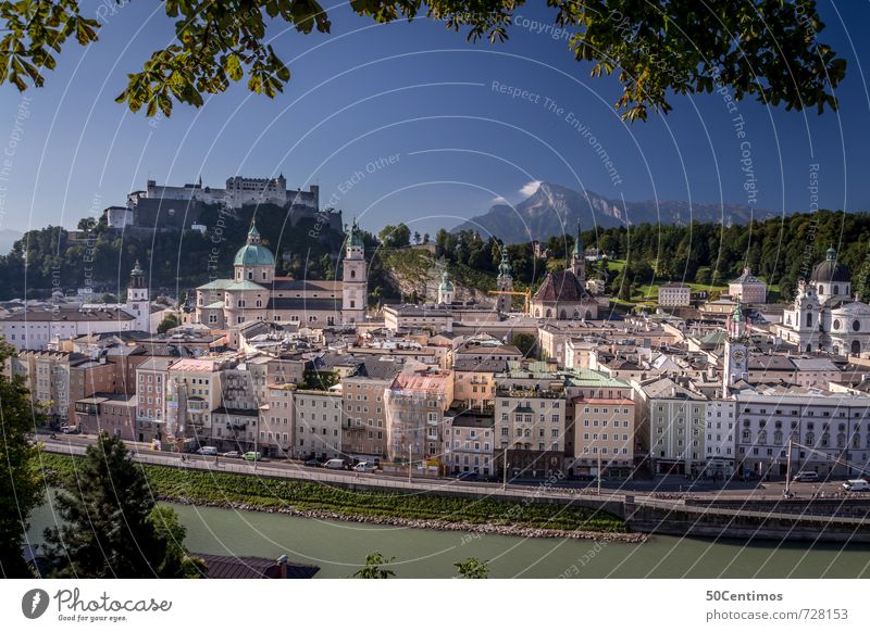 Mozart City Salzburg with the Fortress Lifestyle Vacation & Travel Tourism Trip City trip Summer Alps Salzburg cathedrale Small Town