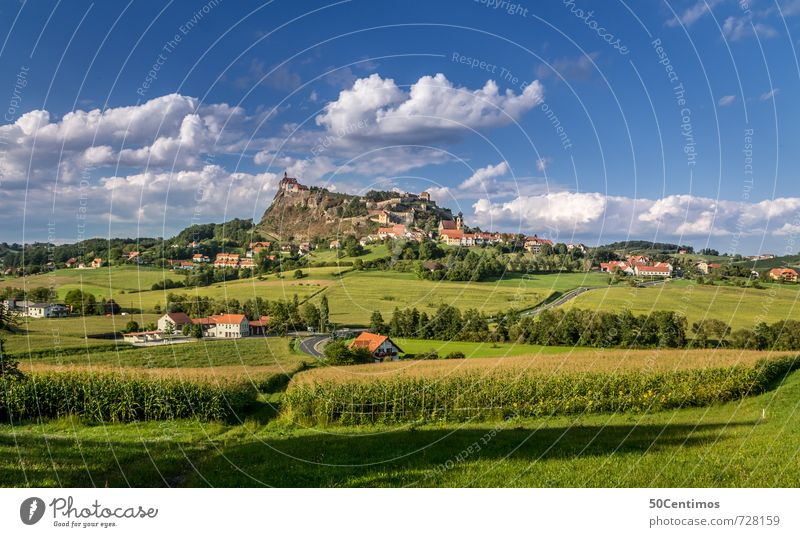 Riegersburg - Fields in Styria Relaxation Calm Vacation & Travel Tourism Trip Summer Hiking Landscape Clouds Beautiful weather Meadow Federal State of Styria